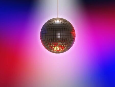 Illustration of a disco ball with lights