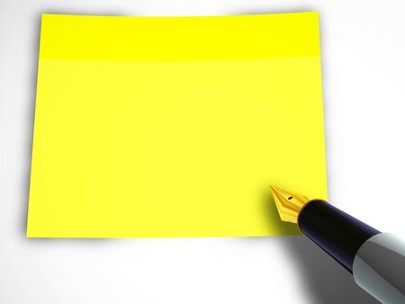 Pen en sticky note