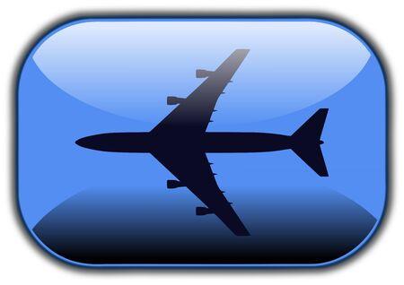 Airplane button Stok Fotoğraf