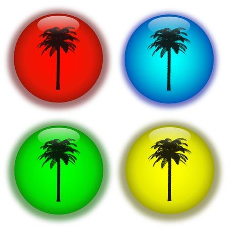 Holiday aqua buttons Stok Fotoğraf