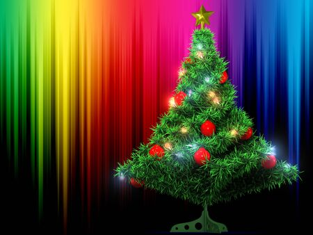 Christmas Tree and colour background