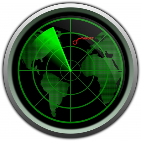 Military radar screen photo