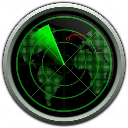 Military radar screen Stok Fotoğraf