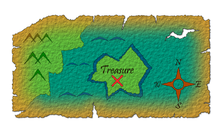 Old treasure map Stok Fotoğraf
