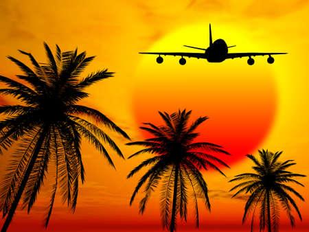 Landing in paradise Stok Fotoğraf