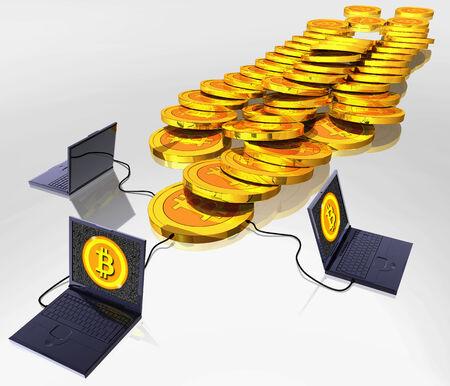Bitcoin digital currency Stok Fotoğraf
