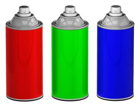 Color spray cans isolated Stok Fotoğraf - 27601968