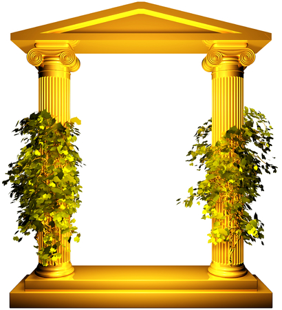 ionic: Ionic gold frame with vine
