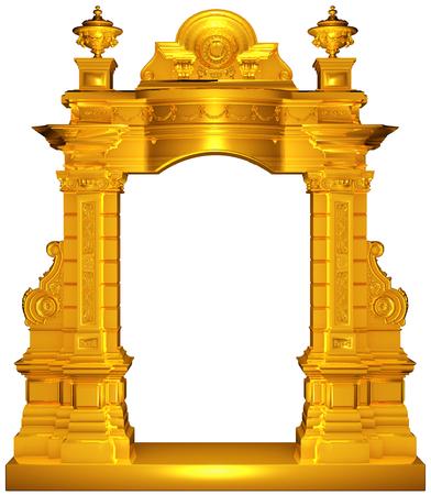 Medieval gold frame Stok Fotoğraf