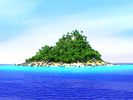 Verloren tropisch eiland Stockfoto
