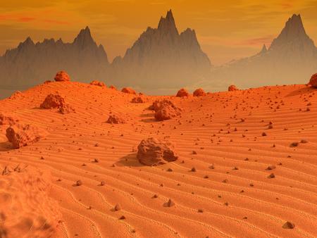 Mars landschap Stockfoto