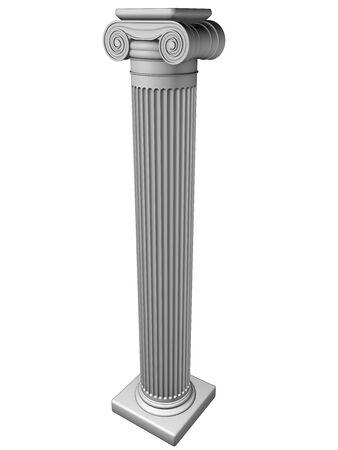 Ionische kolom Stockfoto