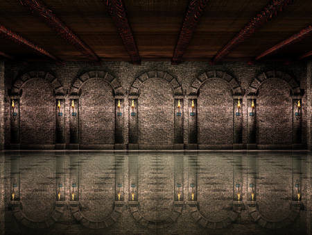 castello medievale: Medieval sala del castello Archivio Fotografico