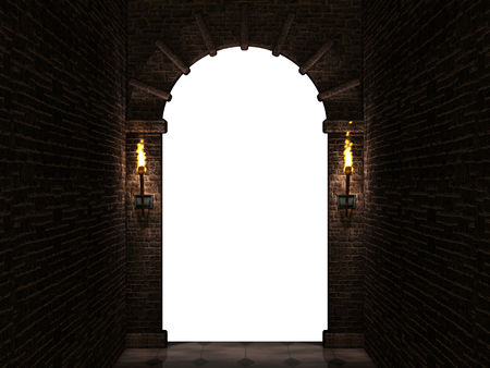 arch: Dark arch isolated