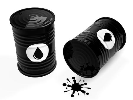 Black oil barrels Stok Fotoğraf - 78584365