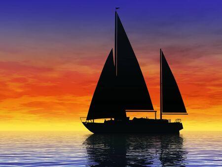 Sailing at sunset Stok Fotoğraf - 79795670