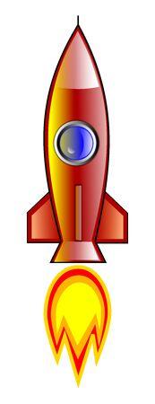 Raket illustratie