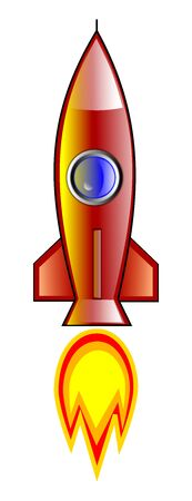 Rocket illustration Stok Fotoğraf - 87750953