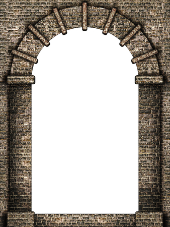Medieval arch isolated