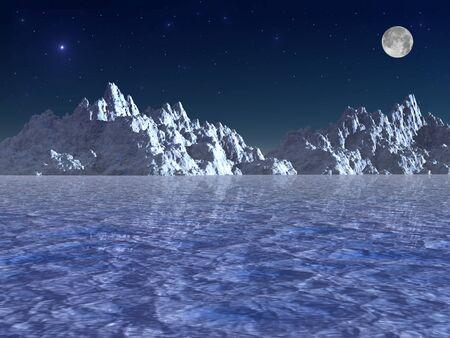 Arctic night Stok Fotoğraf