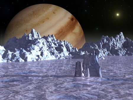 Surface of the Jupiter moon Europa