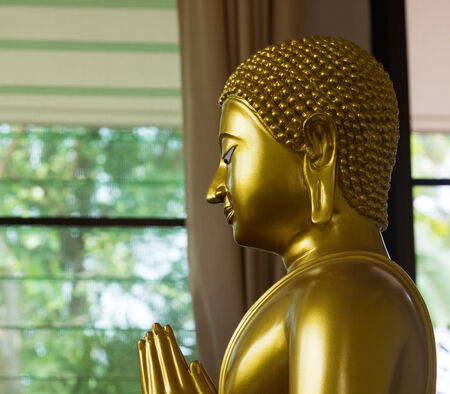 left side of golden buddha photo