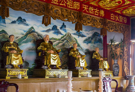 lineage: chinese family statue for lineage to worship Editorial