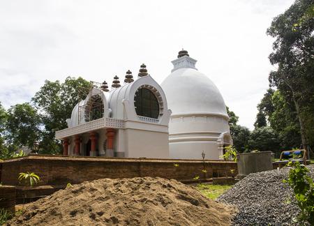 nirvana: pagoda imitating buddha nirvana place in Kusinaga city of India