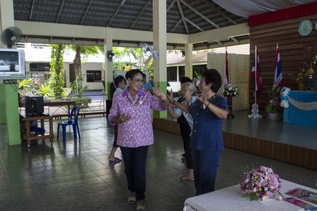 banquet for elderly people in nursing home