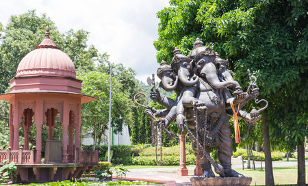 vedic: the five head standing lord ganesha statue Stock Photo
