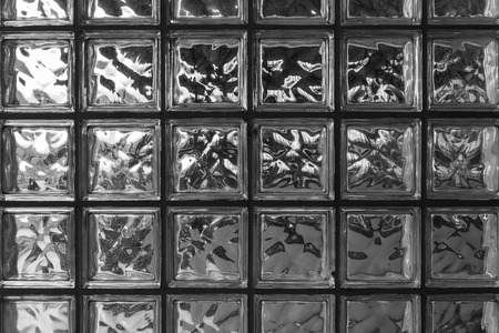 the surface of square glass block for abstract background Stock Photo