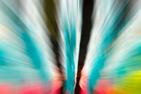 pink and green: blue,pink,,green color tone radial motion blur illustration abstract for background Stock Photo
