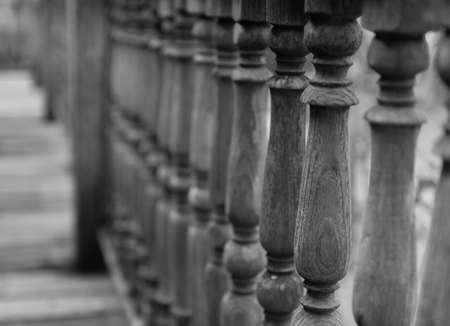 banister: the design of thailand traditional wooden banister