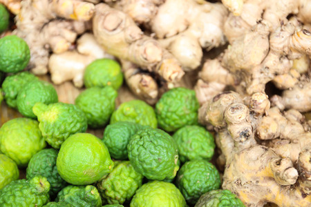 galangal: kaffir lime and galangal, ingredient for thailand traditional recipe