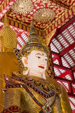 asian angel: asian angel statue in buddhist church