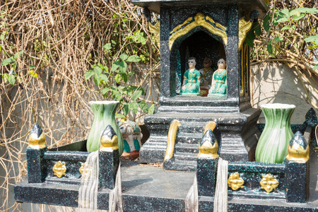 house of god: shrine of the household fairy or  joss house Stock Photo
