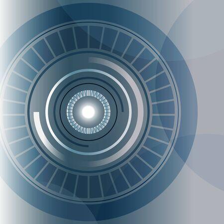 blue circle: tecnolog�a de c�rculo azul de fondo abstracto, ilustraci�n vectorial