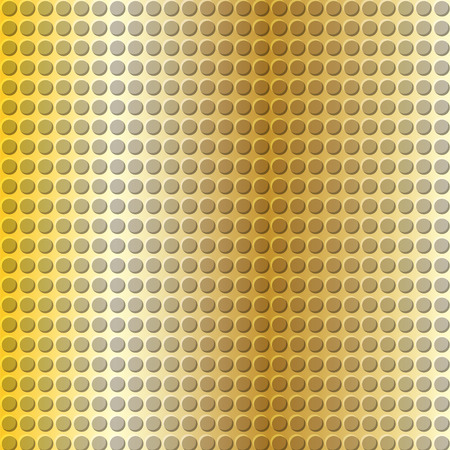 emboss: embossing metallic background in gold color tone, illustration vector eps10
