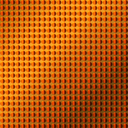 industrial sheet iron: embossing metallic background in orange color tone, illustration vector eps10 Stock Photo