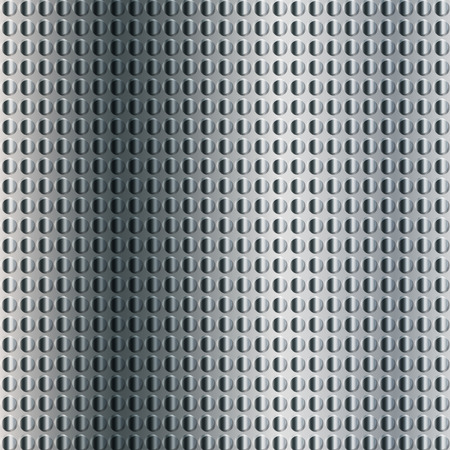 industrial sheet iron: embossing metallic background in silver color tone, illustration vector eps10 Stock Photo
