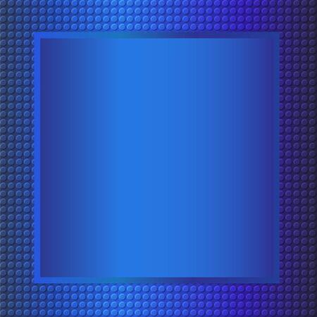 metallic background: embossing metallic frame background in blue tone, illustration vector eps10 Illustration