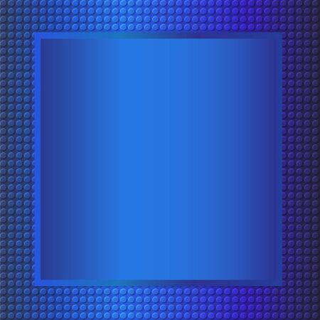 repujado: Fondo del marco met�lico de estampado en tono azul, ilustraci�n vectorial eps10