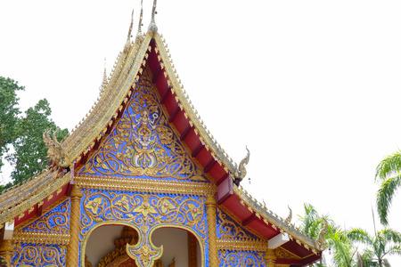 gable: the sculpture art of thailand temple gable Stock Photo