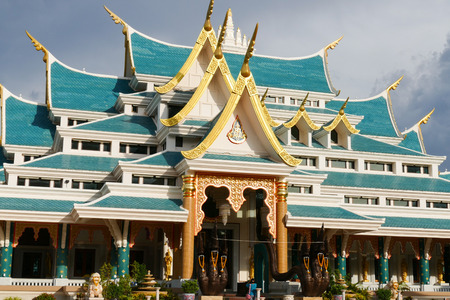 spiritual architecture: architecture of buddhist church in Thailand Stock Photo