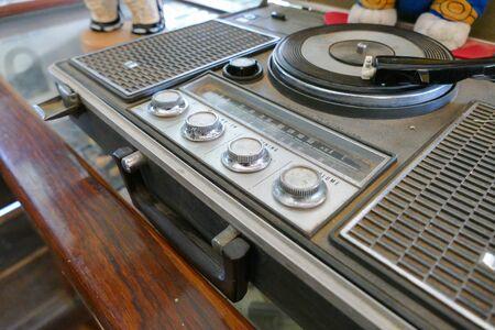 shortwave: old grunge radio Stock Photo