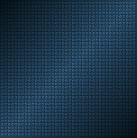 embossing: embossing metallic circle background in blue tone, illustration vector
