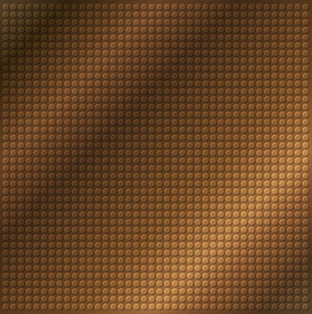 industrial sheet iron: embossing metallic circle background in brown tone, illustration vector   Stock Photo