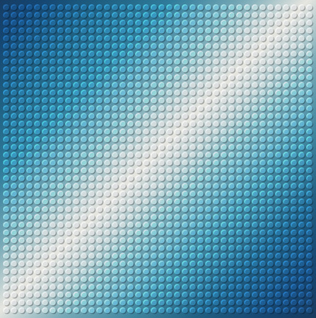 industrial sheet iron: embossing metallic circle background in blue tone, illustration vector