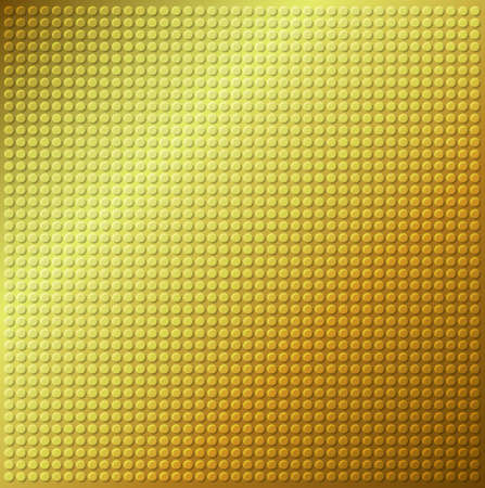 industrial sheet iron: embossing metallic circle background in yellow brown tone, illustration vector