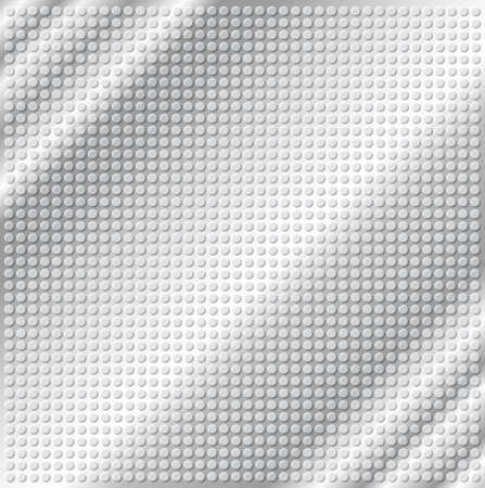 embossing: embossing metallic circle background in silver tone, illustration vector